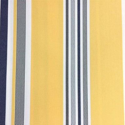 Yellow Multi Stripe Canvas Waterproof Outdoor Fabric