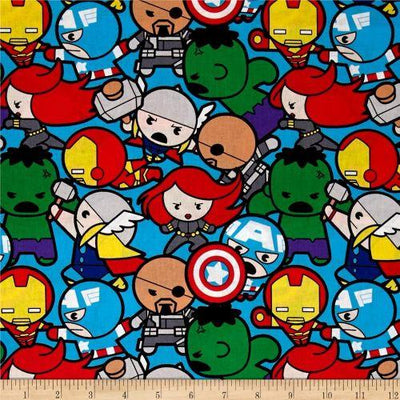 Disney Marvel Avengers Superhero Kawaii 100% Cotton Fabric