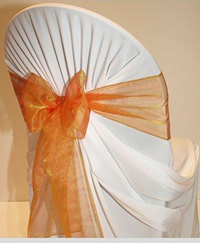 (12 Pack) Orange Organza Sash