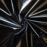 Black Spandex Lame Foil Stretch Metallic Fabric