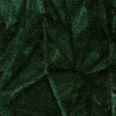 Hunter Green Flocking Crushed Velvet Fabric