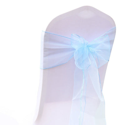 (12 Pack) Blue Organza Sash