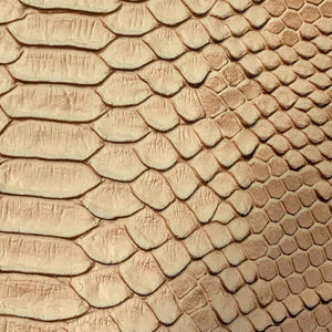 Light Brown Faux Viper Sopythana Snake Skin Vinyl Fabric