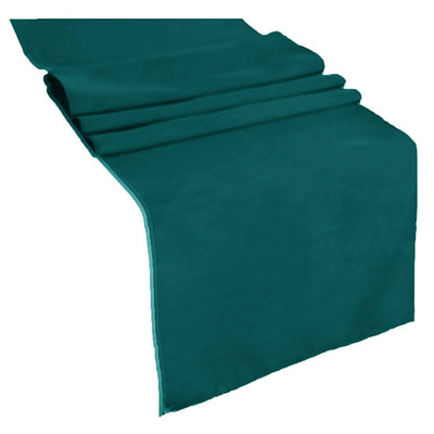 Teal Polyester Table Runner