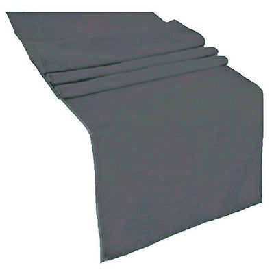 Charcoal Polyester Table Runner