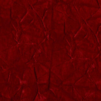 Red Flocking Crushed Velvet Fabric / 50 Yards Roll