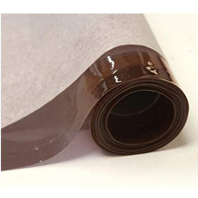 Brown 12 Gauge Tinted Plastic Vinyl Fabric / 25 Yards Roll