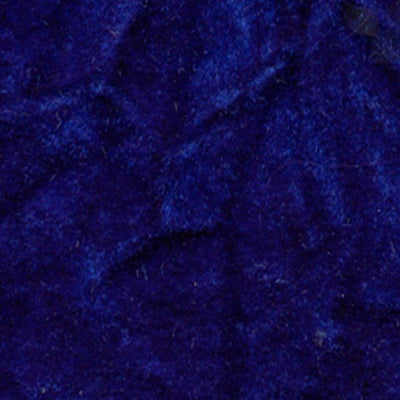 Royal Blue Flocking Crushed Velvet Fabric