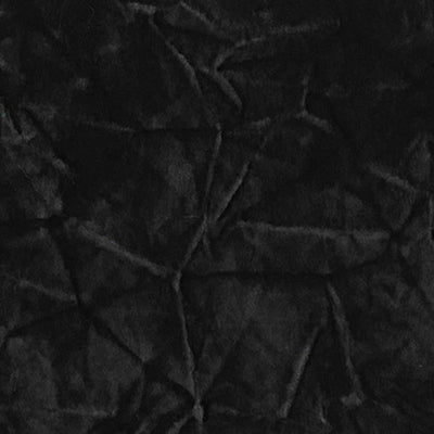 Black Stretch Crushed Velvet Fabric
