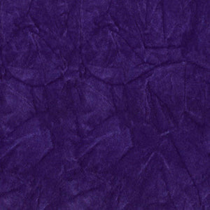 Purple Flocking Crushed Velvet Fabric