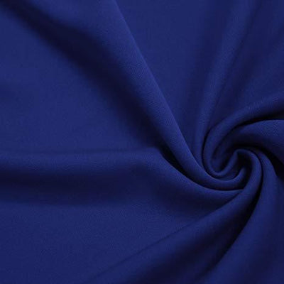 Royal Solid Stretch Scuba Double Knit Fabric / 50 Yards Roll