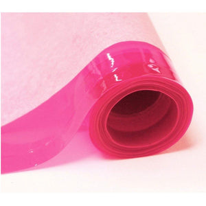 Pink 12 Gauge Tinted Plastic Vinyl Fabric / 25 Yards Roll