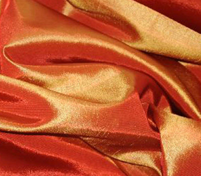 Orange Taffeta Solid Fabric
