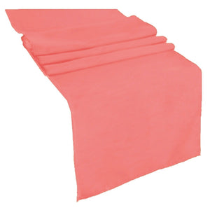 Coral Polyester Table Runner