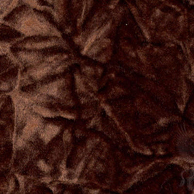 Chocolate Flocking Crushed Velvet Fabric