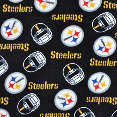 Pittsburgh Steelers Solid Black Premium NFL Fleece Fabric