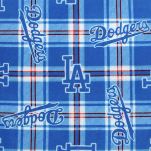 Los Angeles Dodgers Plaid Fleece Fabric