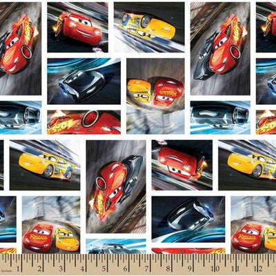 Disney Pixar Cars 3 100% Cotton Print Fabric