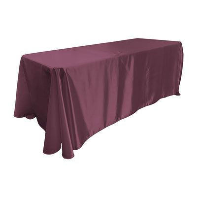 Eggplant Bridal Satin Rectangular Tablecloth 90 x 156