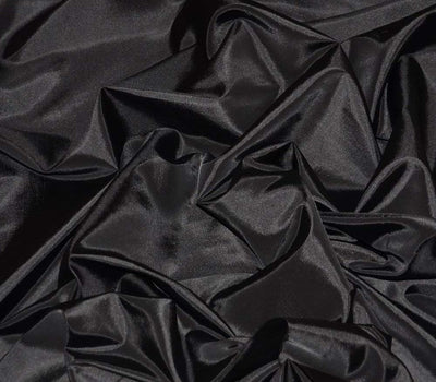 Black Taffeta Solid Fabric