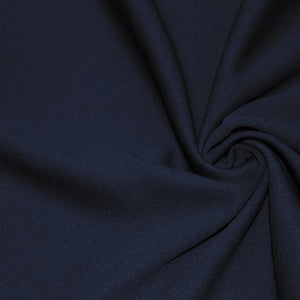 Navy Scuba Double Knit Fabric