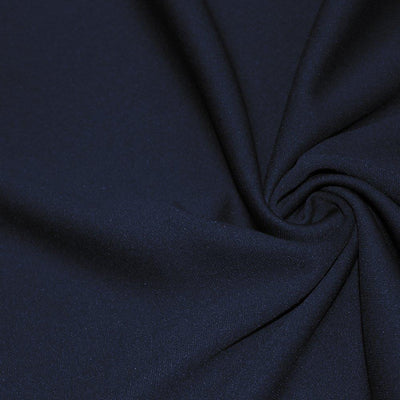 Navy Solid Stretch Scuba Double Knit Fabric / 50 Yards Roll