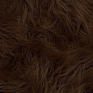 Brown Faux Fake Mongolian Animal Fur Fabric Long Pile
