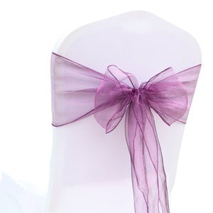 (12 pack) Purple Organza Sash