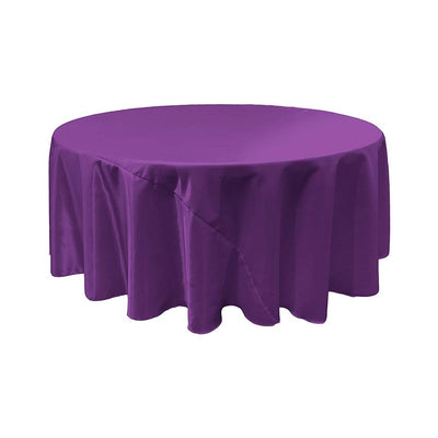 Purple Bridal Satin Round Tablecloth 132