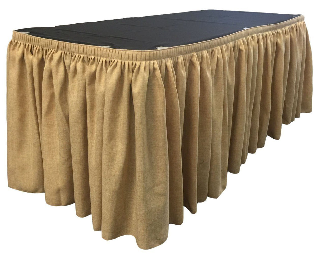 14 Ft. Natural Burlap Accordion Pleat Table Skirt