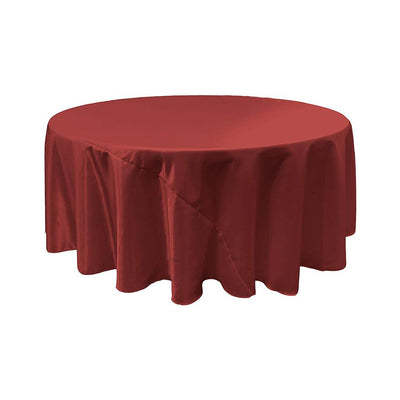 Burgundy Bridal Satin Round Tablecloth 132