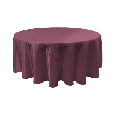 Eggplant Bridal Satin Round Tablecloth 132
