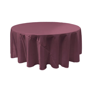 Eggplant Bridal Satin Round Tablecloth 120""