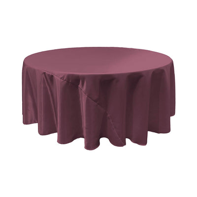 Eggplant Bridal Satin Round Tablecloth 120