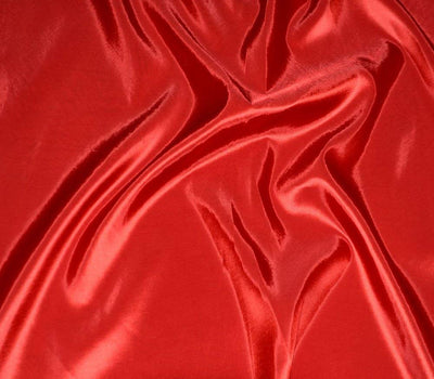 Red Taffeta Solid Fabric