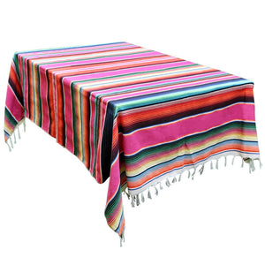 Mexican Serape Blanket Tablecloth