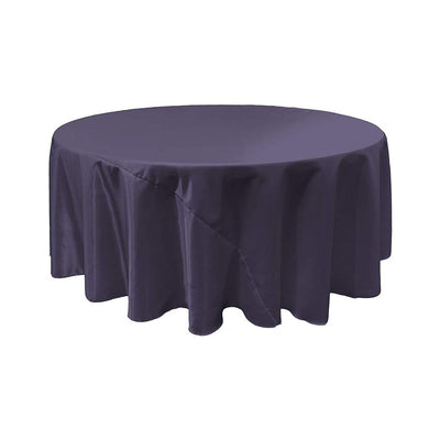 Navy Blue Bridal Satin Round Tablecloth 132