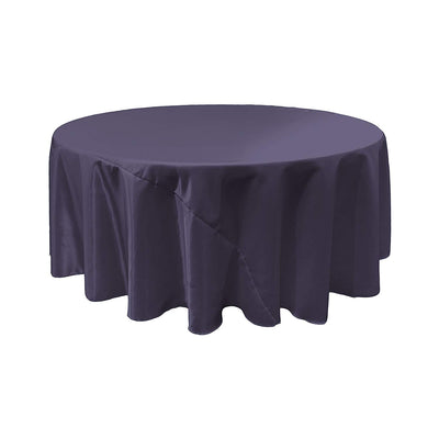 Navy Blue Bridal Satin Round Tablecloth 120