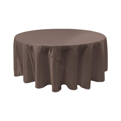 Charcoal Bridal Satin Round Tablecloth 132