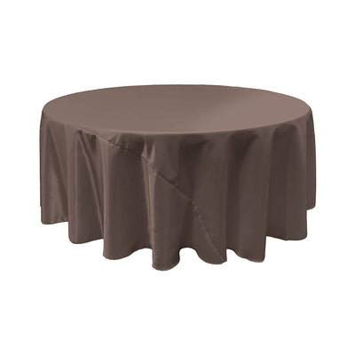 Charcoal Bridal Satin Round Tablecloth 120