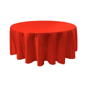 Red Satin Round Tablecloth 120""