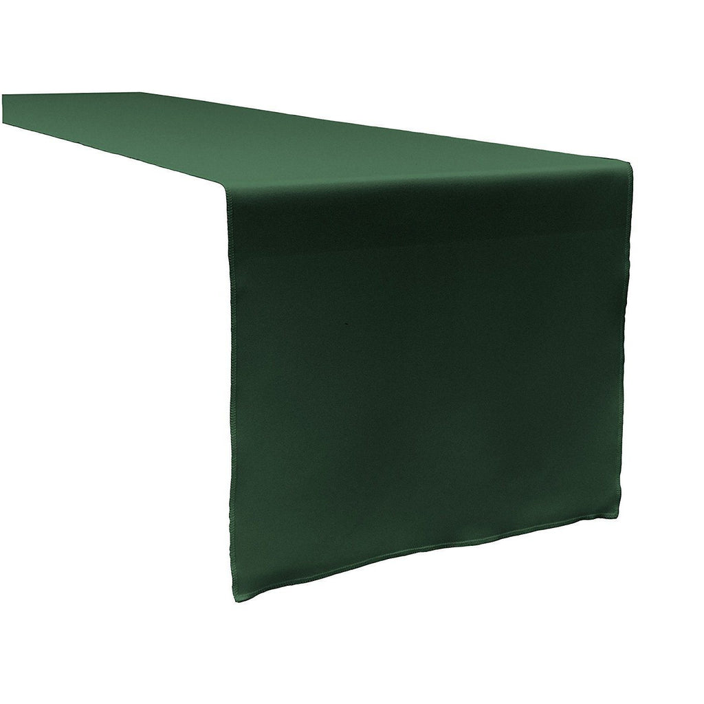 Hunter Green Polyester Table Runner