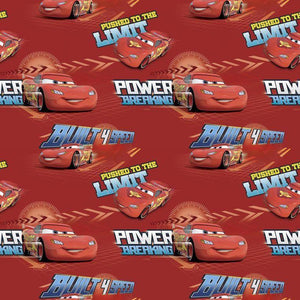 Disney Cars Built 4 Speed 100% Cotton Fabric