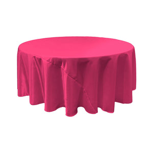 Fuchsia Satin Round Tablecloth 120""