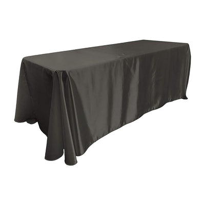 Black Bridal Satin Rectangular Tablecloth 90 x 156