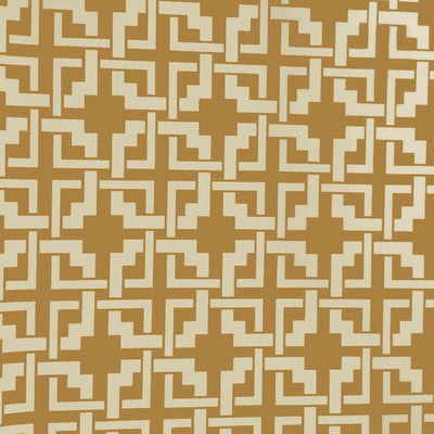 Khaki Ivory Puzzle Style Canvas Waterproof Outdoor Fabric