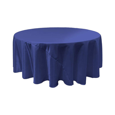 Royal Blue Bridal Satin Round Tablecloth 132