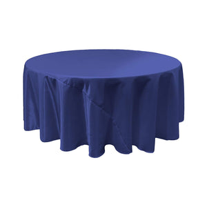 Royal Blue Bridal Satin Round Tablecloth 120""
