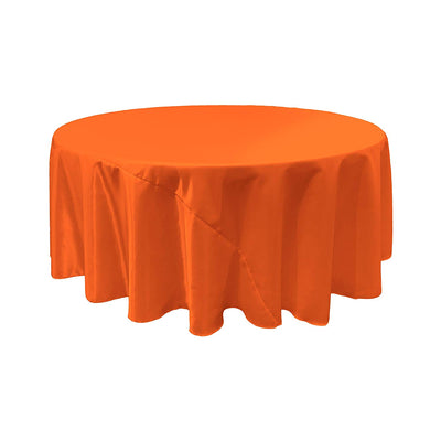 Orange Satin Round Tablecloth 120