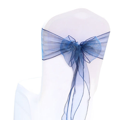 (12 Pack) Navy Blue Organza Sash